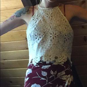 Lucy Paris Floral Lace Blouse Boho Anthropologie